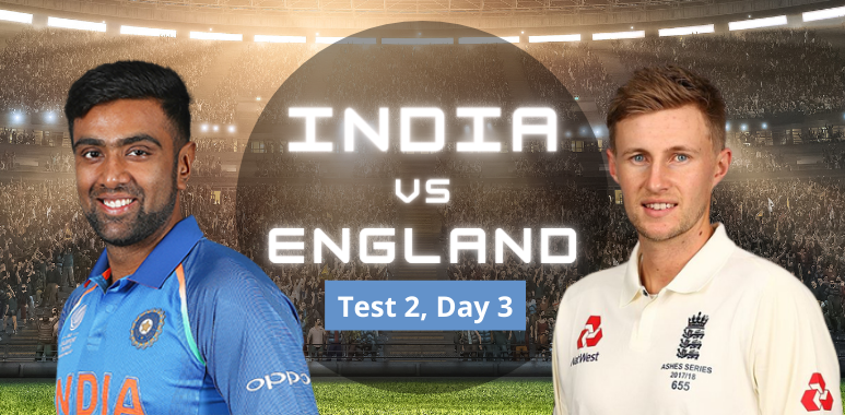 India vs England: Day 3, Test 2